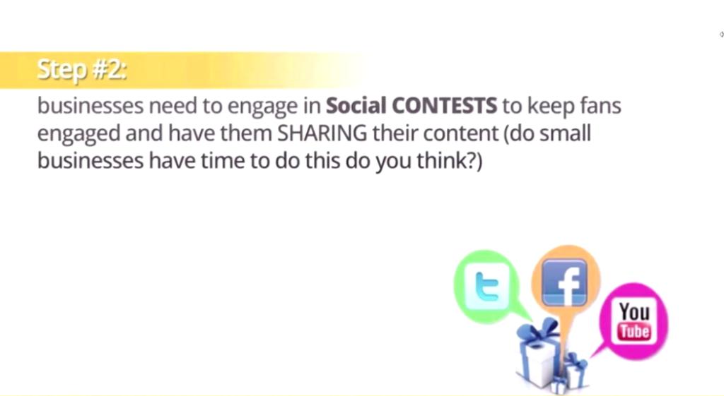 social sharing contests