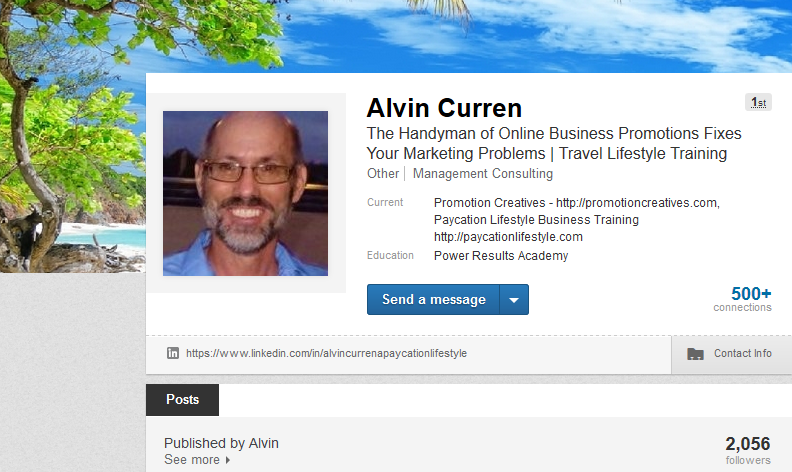 Business marketing professional Alvin Curren