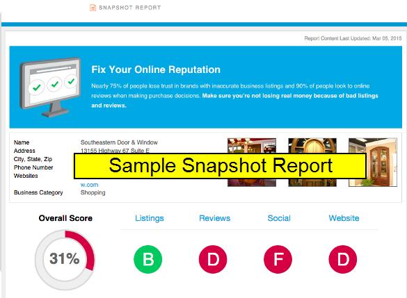 7 snapshot report